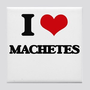 I Love Machetes Tile Coaster