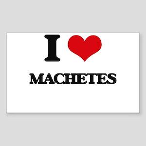 I Love Machetes Sticker