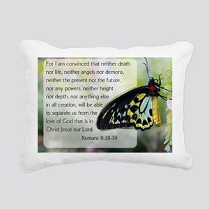 Bible Verse: Romans 8:38 Rectangular Canvas Pillow