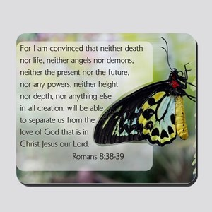 Bible Verse: Romans 8:38-39 Mousepad