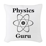 Physics Guru Woven Throw Pillow