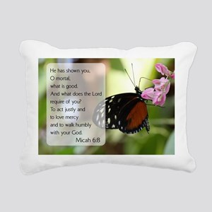 Bible Verse Micah 6:8 Rectangular Canvas Pillow