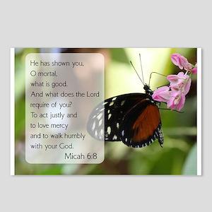 Bible Verse Micah 6:8 Postcards (Package of 8)