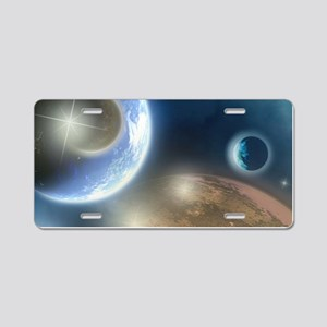 New Planets Aluminum License Plate