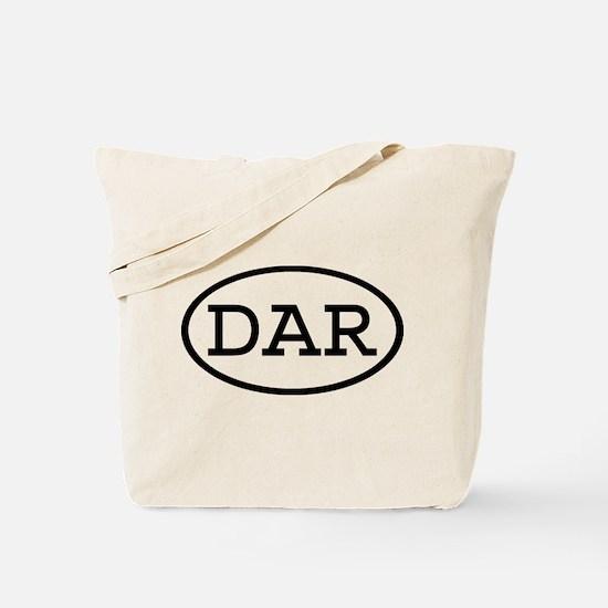 DAR Oval Tote Bag