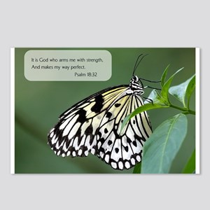 Bible Verse Psalm 18:32 Postcards (Package of 8)