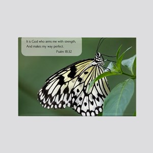 Bible Verse Psalm 18:32 Magnets
