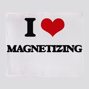 I Love Magnetizing Throw Blanket