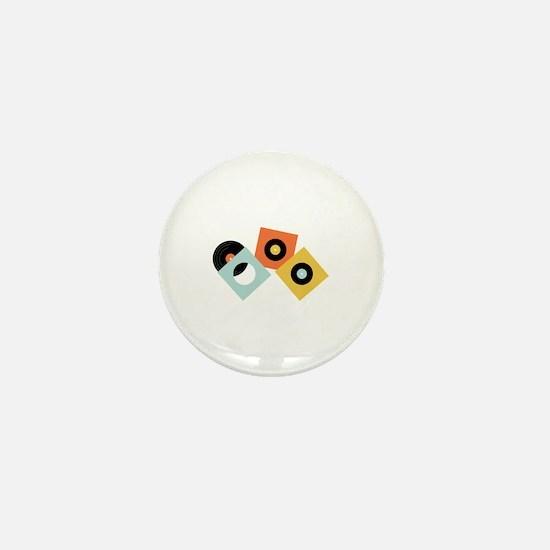 Vinyl Records Mini Button