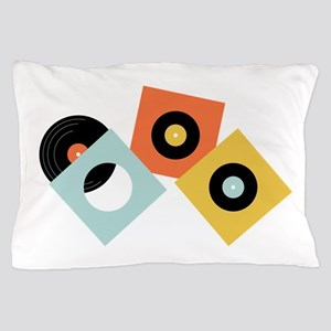 Vinyl Records Pillow Case