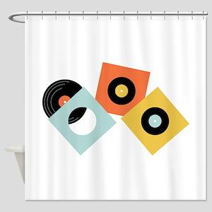 Vinyl Records Shower Curtain