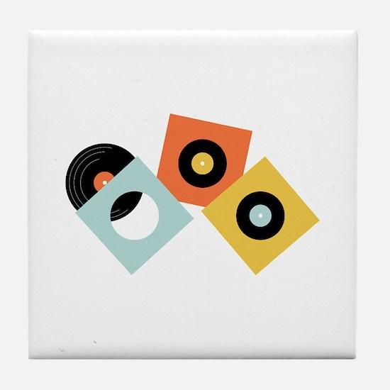 Vinyl Records Tile Coaster
