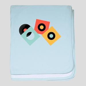 Vinyl Records baby blanket