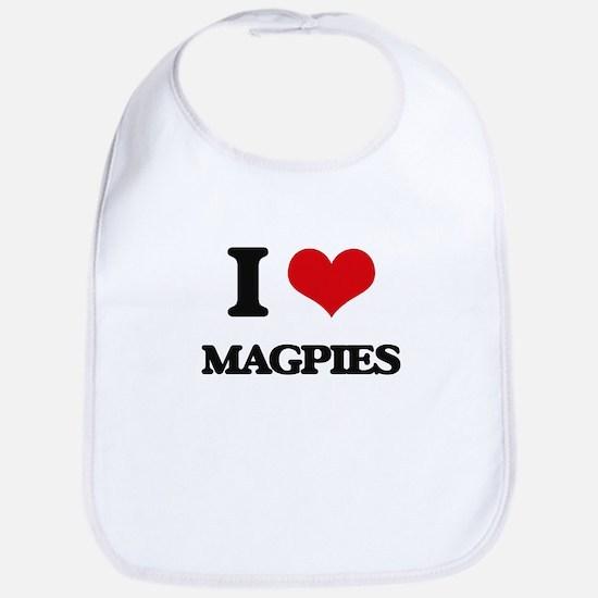 I Love Magpies Bib
