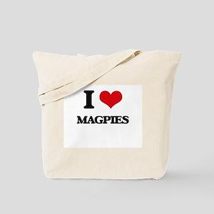 I Love Magpies Tote Bag
