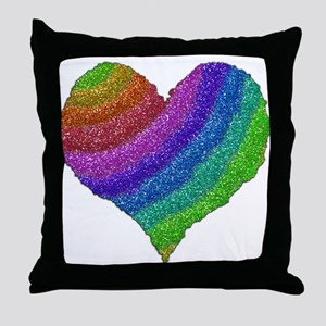 Glitters Rainbow Throw Pillow