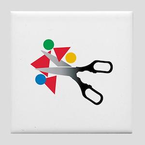 Scissors Shapes Tile Coaster