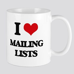 I Love Mailing Lists Mugs