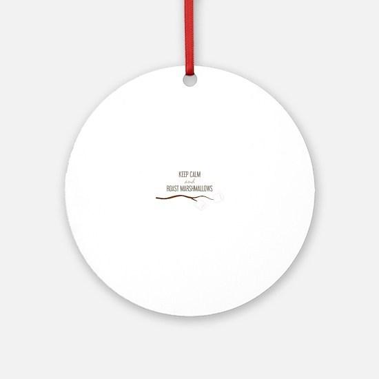 Keep Calm Marshmallows Ornament (Round)