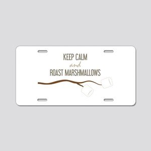 Keep Calm Marshmallows Aluminum License Plate