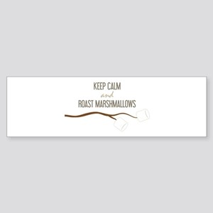 Keep Calm Marshmallows Bumper Sticker