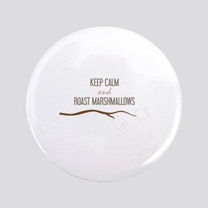 "Keep Calm Marshmallows 3.5"" Button"