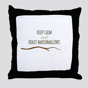 Keep Calm Marshmallows Throw Pillow