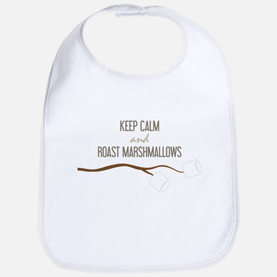Keep Calm Marshmallows Bib