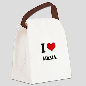 I Love Mama Canvas Lunch Bag
