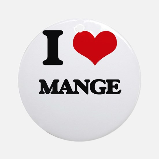 I Love Mange Ornament (Round)