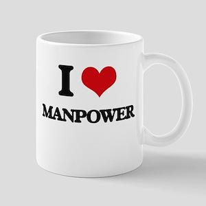 I Love Manpower Mugs