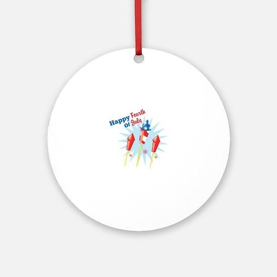 Happy Fourth Ornament (Round)