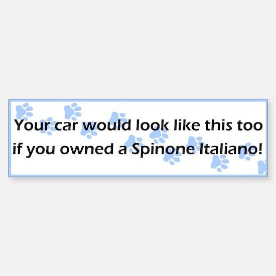 Your Car Spinone Italiano Bumper Bumper Bumper Sticker