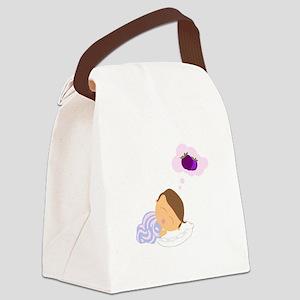 Sleepy Boy Canvas Lunch Bag
