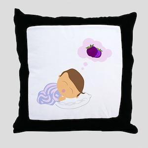 Sleepy Boy Throw Pillow