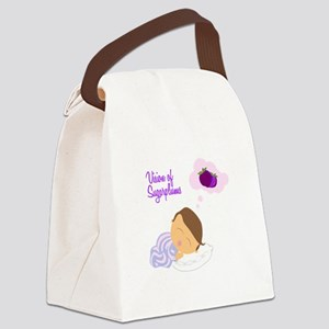 Vision of Sugarplums Canvas Lunch Bag