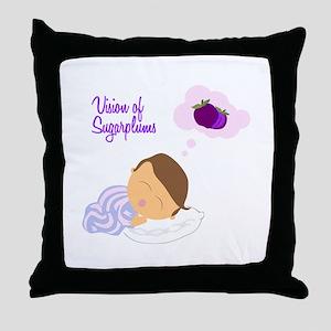 Vision of Sugarplums Throw Pillow