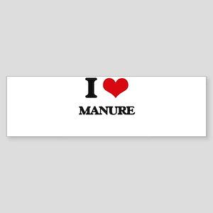 I Love Manure Bumper Sticker