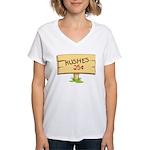 Kushes - Kisses Women's V-Neck T-Shirt
