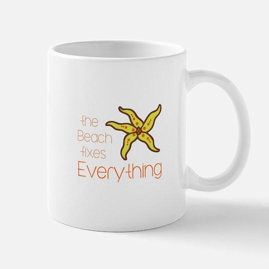 BEACH FIXES EVERYTHING Mugs