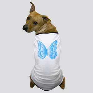 Light Blue Butterfly Dog T-Shirt