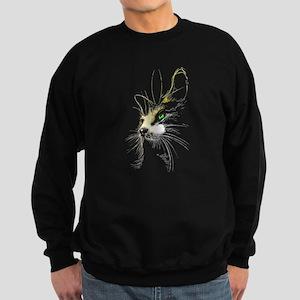 Cat two colors Sweatshirt (dark)