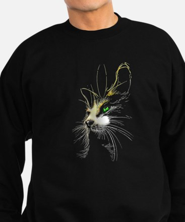 Cat two colors Sweatshirt (dark)