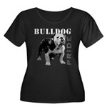 Bulldog Pride Women's Plus Size Scoop Neck Dark T-