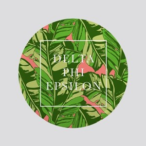 "Delta Phi Epsilon Banana Leaves 3.5"" Button"