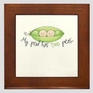 My pod has two peas... Framed Tile