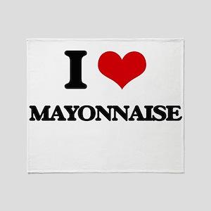 I Love Mayonnaise Throw Blanket