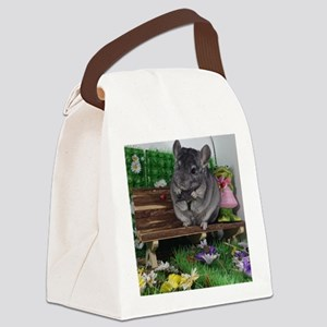 ebony chinchilla Canvas Lunch Bag