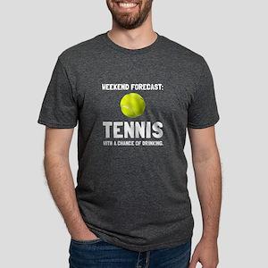Weekend Forecast Tennis T-Shirt