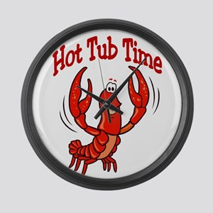 Crawfish Hot Tub Time Large Wall Clock